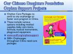 our chinese daughters foundation orphan support projects