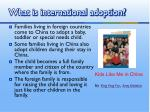 what is international adoption