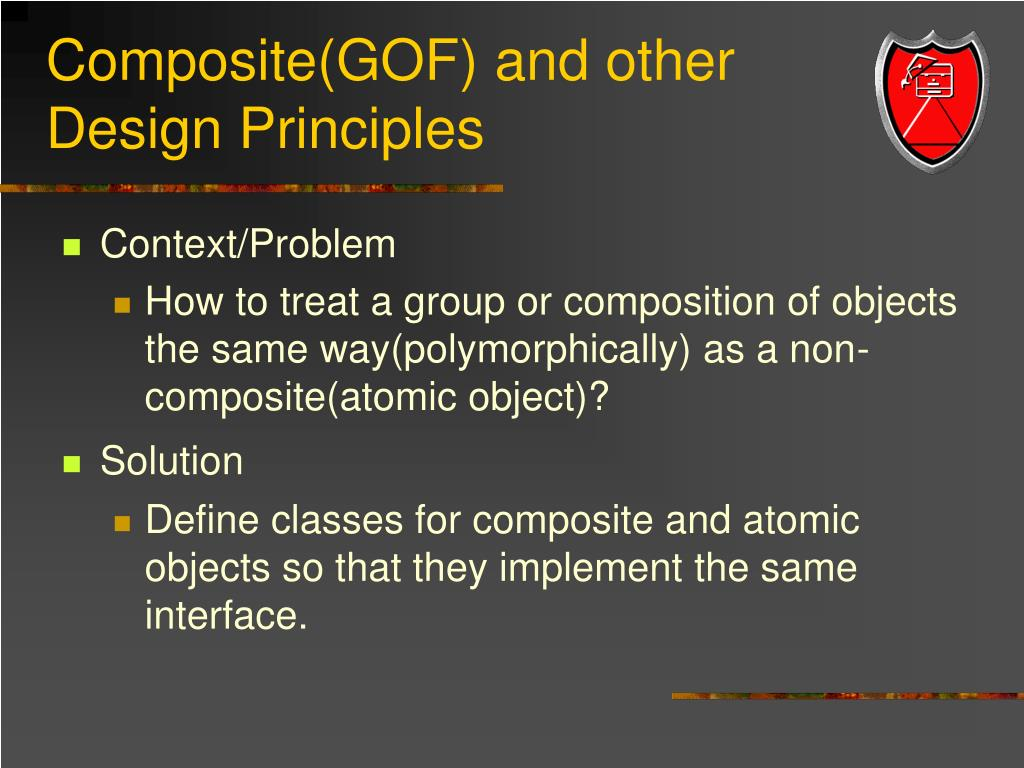 Composite(GOF) and other Design Principles