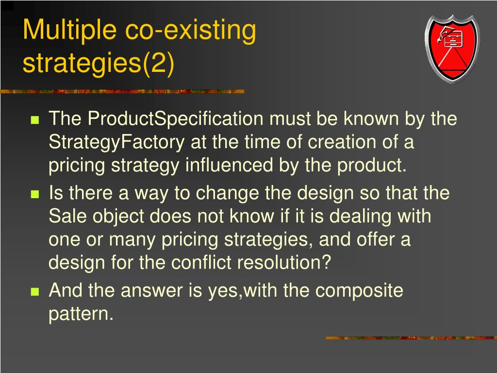Multiple co-existing strategies(2)