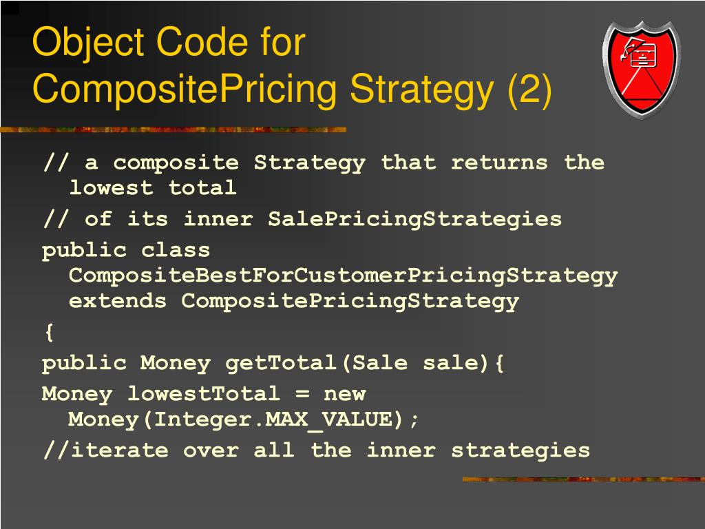 Object Code for CompositePricing Strategy (2)