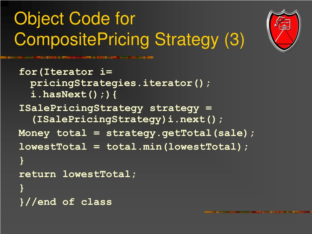 Object Code for CompositePricing Strategy (3)