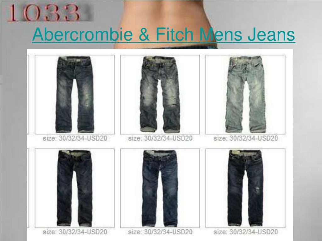 abercrombie fitch mens jeans l.