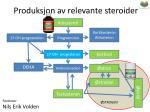 produksjon av relevante steroider