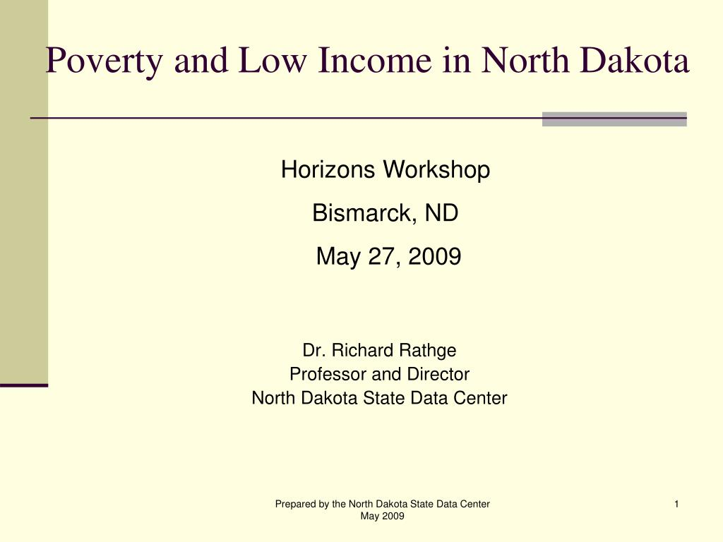 poverty and low income in north dakota l.