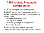a principled pragmatic nimble union