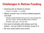 challenges in retiree funding