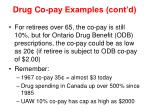 drug co pay examples cont d