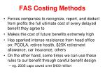 fas costing methods