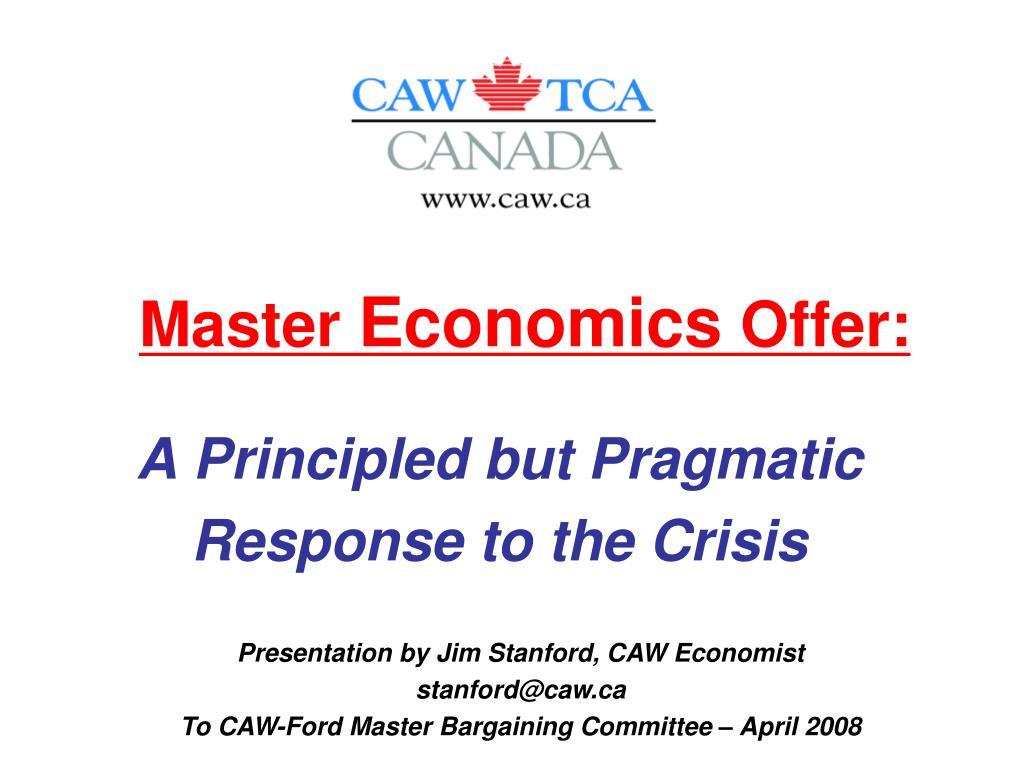 master economics offer l.