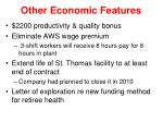 other economic features