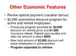 other economic features48