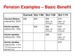 pension examples basic benefit