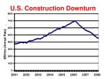 u s construction downturn