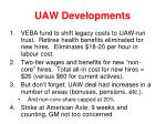 uaw developments