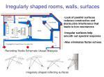 irregularly shaped rooms walls surfaces