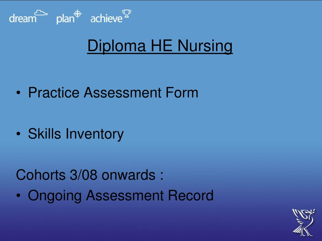 Diploma HE Nursing