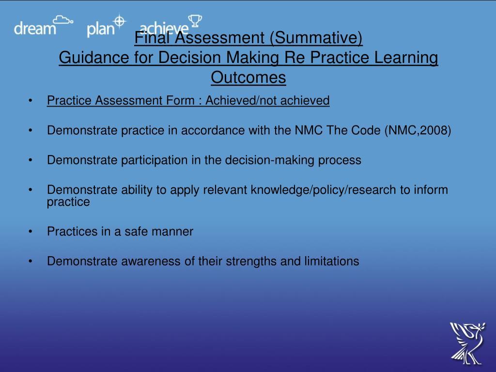 Final Assessment (Summative)