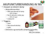 akupunkturbehandling av ms1