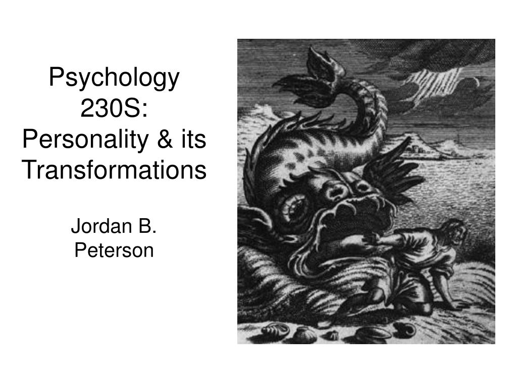 psychology 230s personality its transformations l.