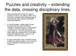 puzzles and creativity extending the data crossing disciplinary lines