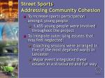 street sports addressing community cohesion16