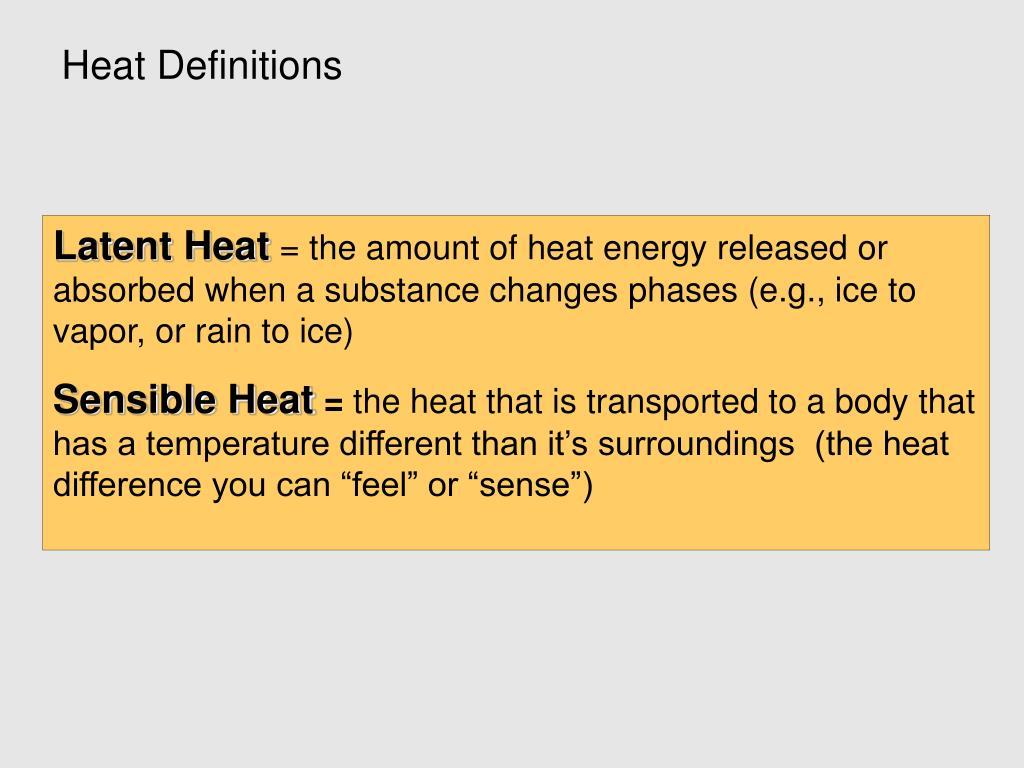 Heat Definitions