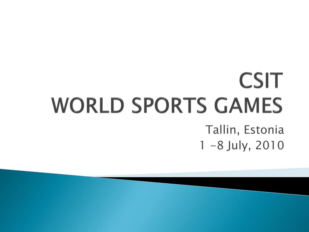 csit world sports games l.