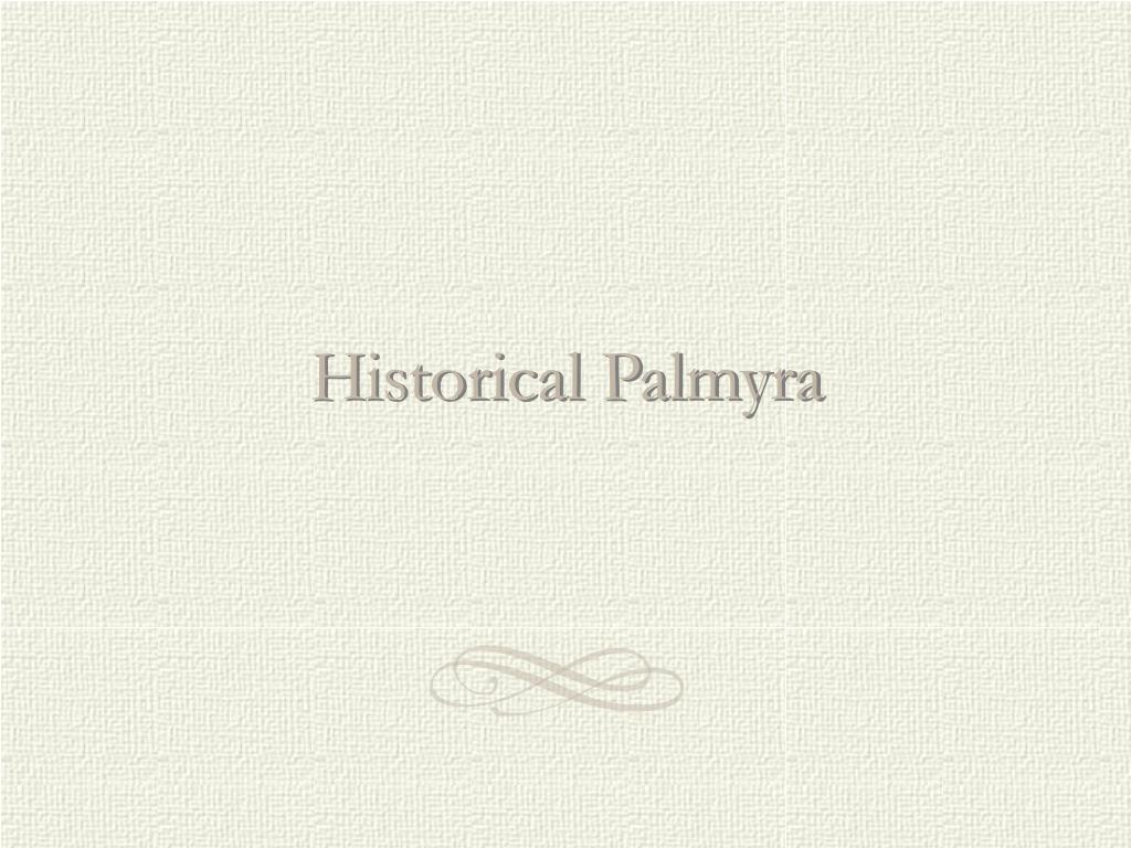 historical palmyra l.