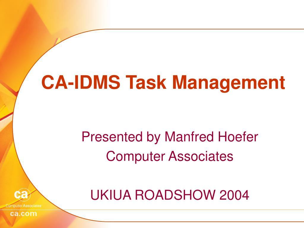 ca idms task management l.