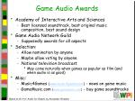 game audio awards