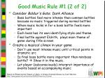 good music rule 1 2 of 2