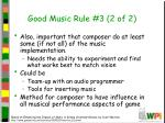 good music rule 3 2 of 2