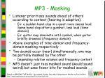 mp3 masking