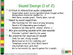 sound design 1 of 2