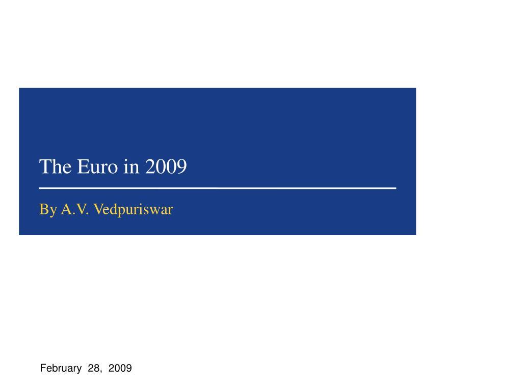 the euro in 2009 l.