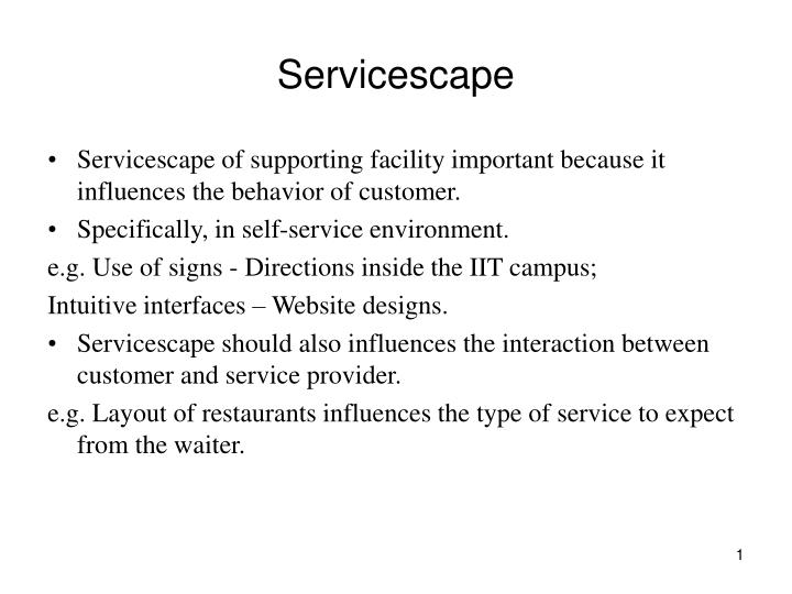 servicescape evaluations of hotels