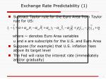 exchange rate predictability 1