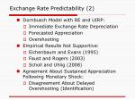exchange rate predictability 2