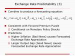 exchange rate predictability 3