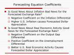 forecasting equation coefficients