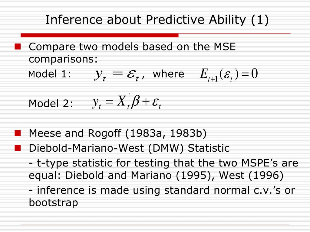Inference about Predictive Ability (1)
