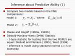inference about predictive ability 1