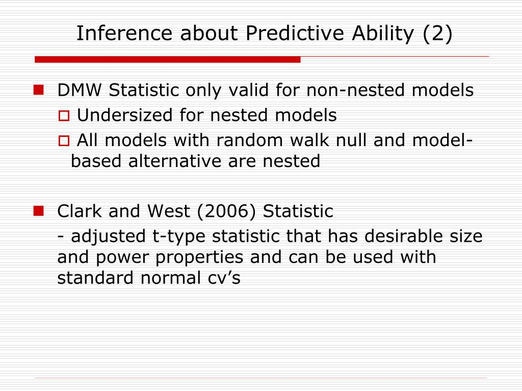 Inference about Predictive Ability (2)
