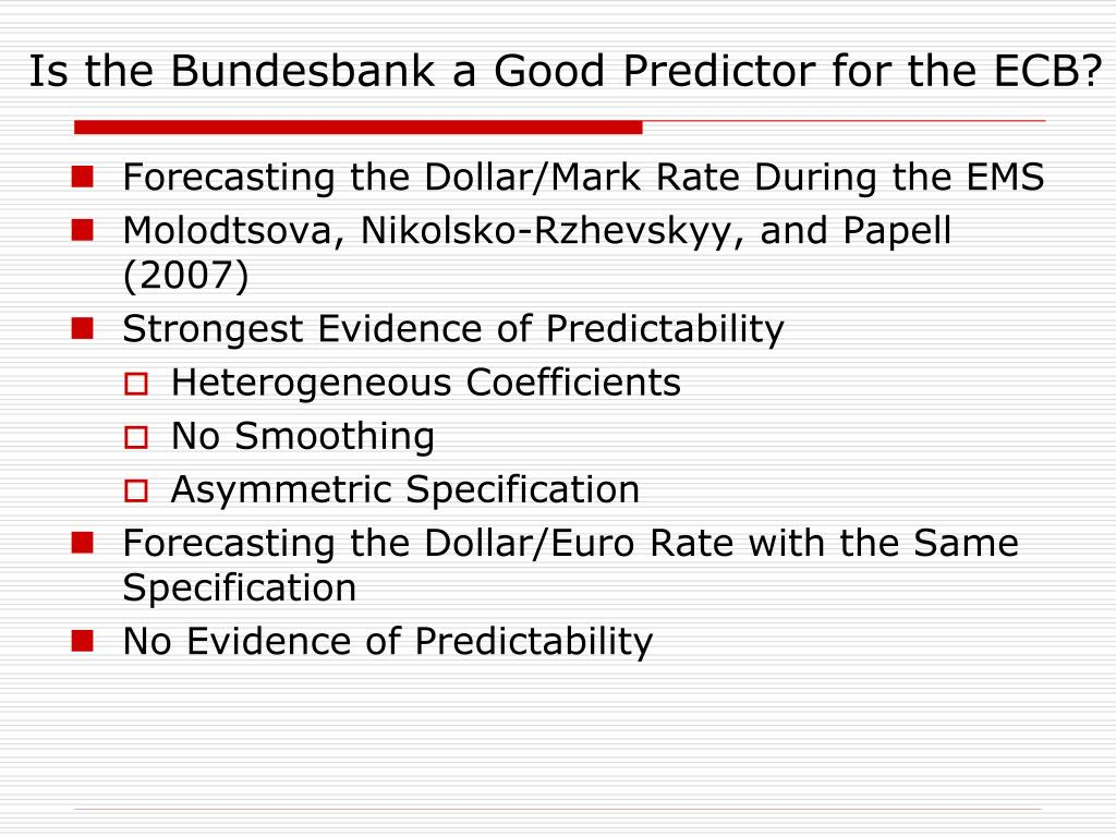 Is the Bundesbank a Good Predictor for the ECB?