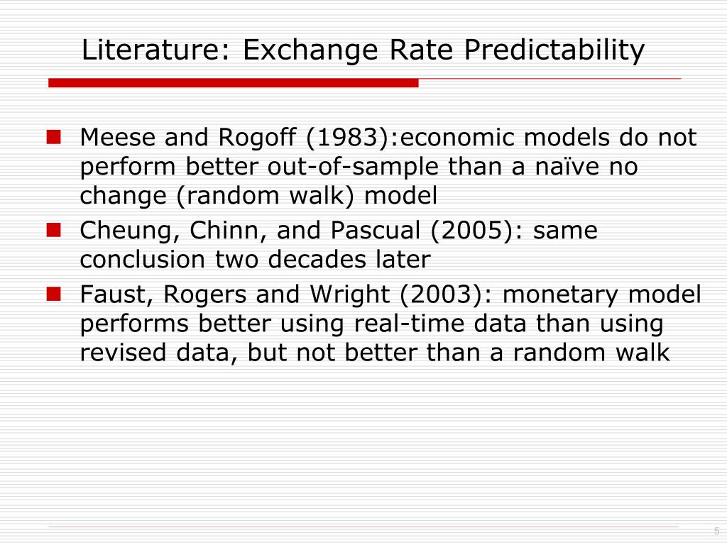 Literature: Exchange Rate Predictability