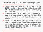 literature taylor rules and exchange rates