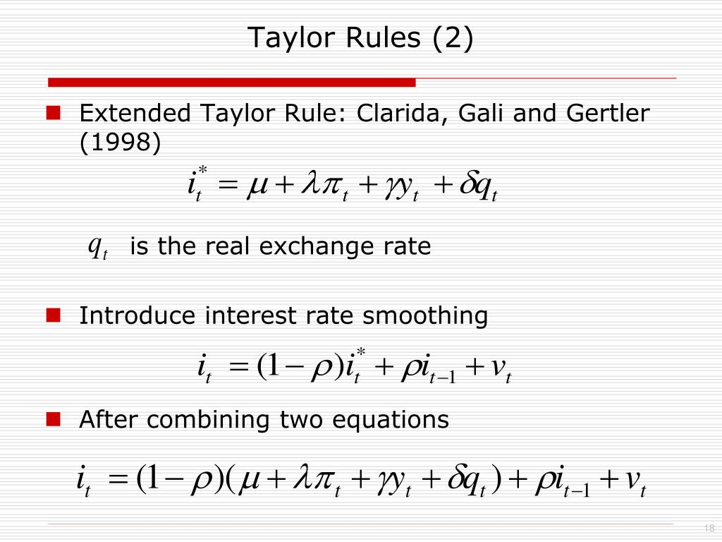 Taylor Rules (2)