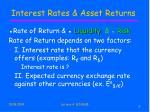 interest rates asset returns