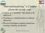 internationalizing a campus from the inside out